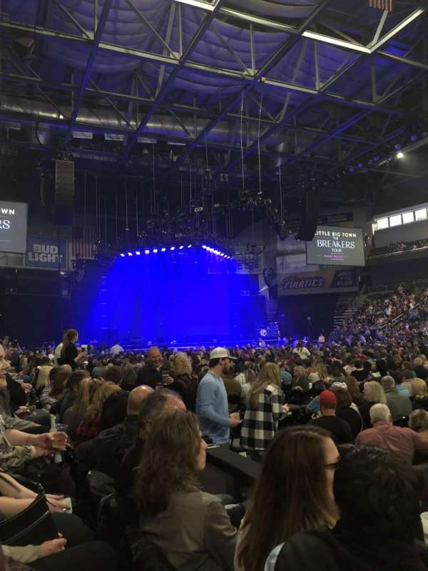 Huntington Center, section: 106, row: B, seat: 1