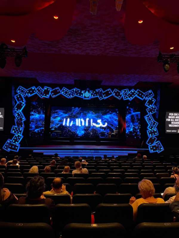 The Mirage Theatre, section: 102, row: D, seat: 10