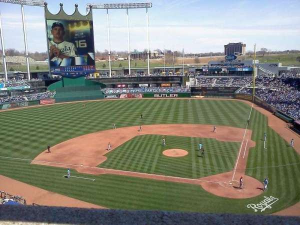 Kauffman Stadium, section: 415, row: A, seat: 3