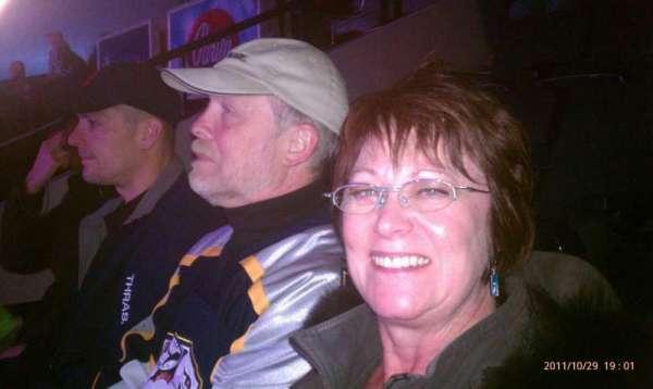 Bridgestone Arena, section: 120, row: j, seat: 4
