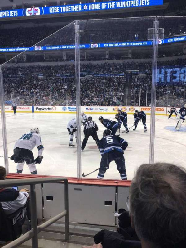Canada Life Centre, section: 116, row: 4, seat: 9