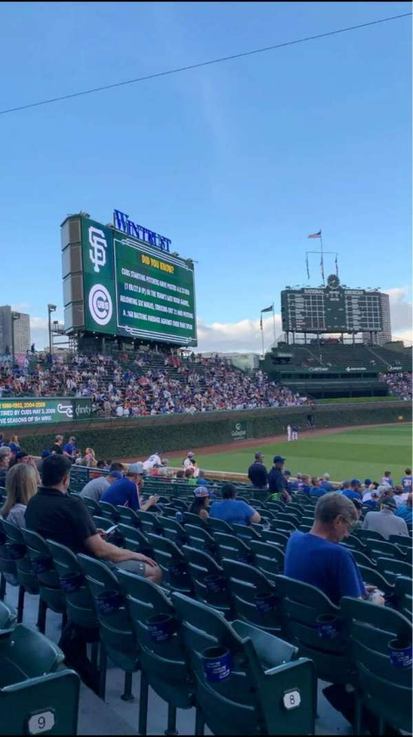 Wrigley Field, section: 105, row: 10, seat: 2