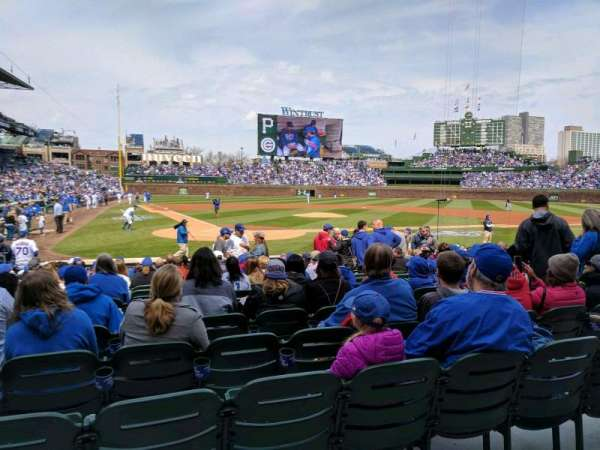Wrigley Field, section: 120, row: 1, seat: 10