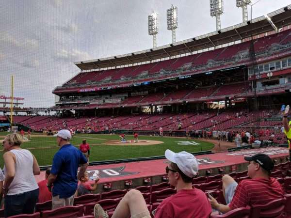 Great American Ball Park, section: 117, row: K, seat: 12