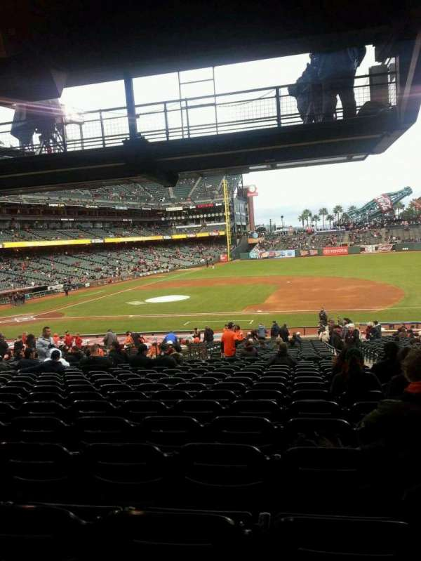 Oracle Park, section: 107, row: 36, seat: 3