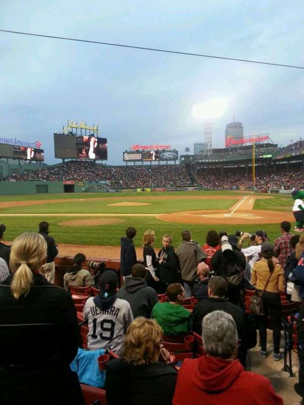 Fenway Park, section: Field Box 51, row: F, seat: 1