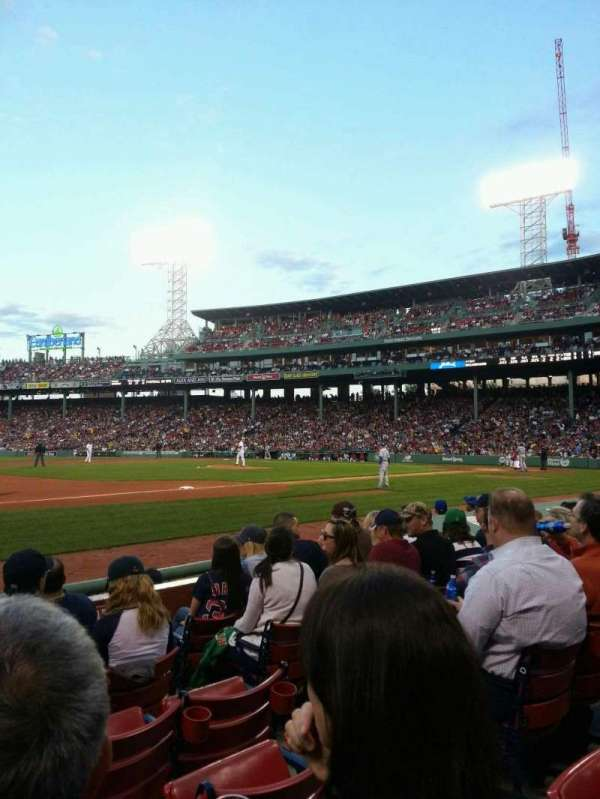 Fenway Park, section: Field Box 70, row: F, seat: 5