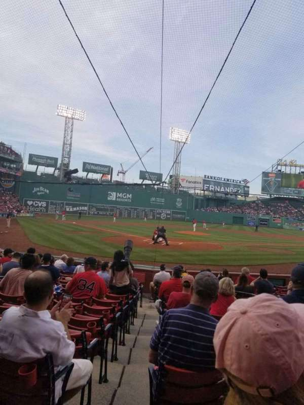 Fenway Park, section: Field Box 42, row: L, seat: 7