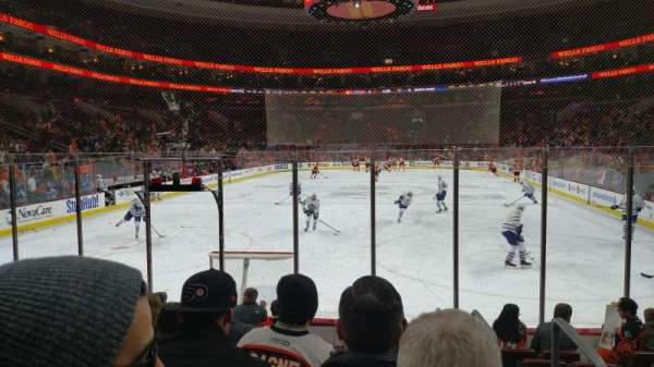 Wells Fargo Center, section: 107, row: 9