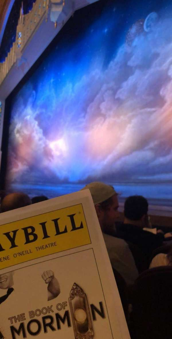 Eugene O'Neill Theatre, section: Orchestra R, row: E, seat: 14