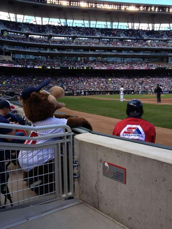 Target Field, section: 104, row: 2, seat: 3