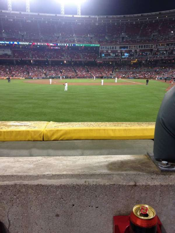 Great American Ball Park, section: 104, row: A, seat: 1