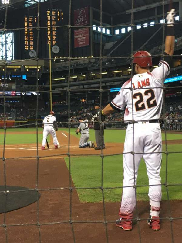Chase Field, section: L, row: AA, seat: 18