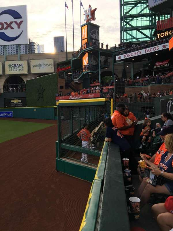 Minute Maid Park, section: 154, row: 1, seat: 15