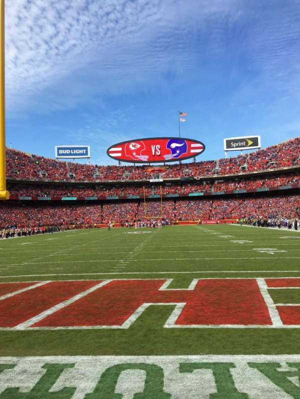 Arrowhead Stadium, section: 110, row: 1, seat: 2