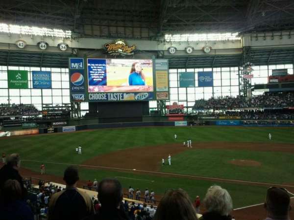 Miller Park, section: 222, row: 4, seat: 9