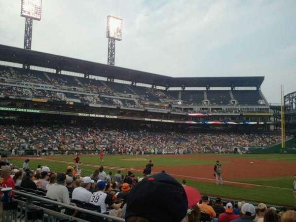 PNC Park, section: 107, row: B, seat: 2