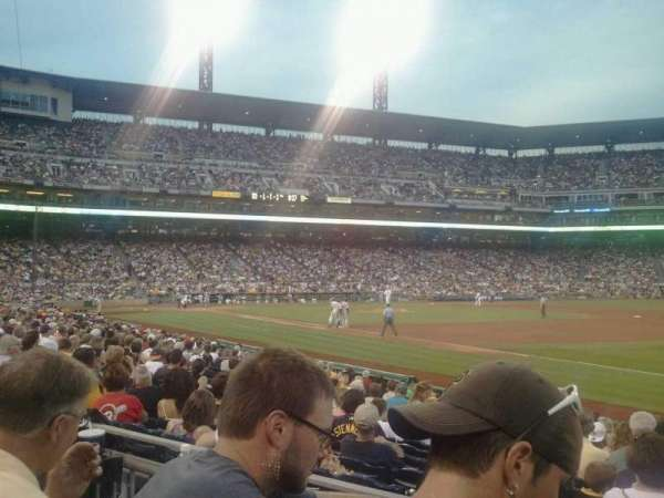 PNC Park, section: 105, row: B, seat: 1