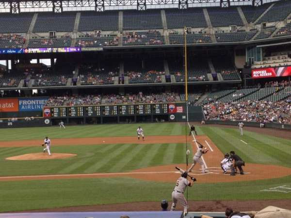 Coors Field, section: 135, row: 16, seat: 6