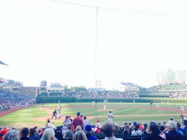 Wrigley Field, section: 121, row: 1, seat: 1