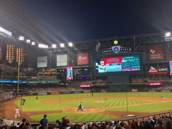 Chase Field, section: 121, row: 23, seat: 2