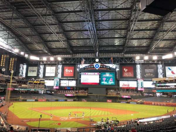 Chase Field, section: 121, row: 36, seat: 2