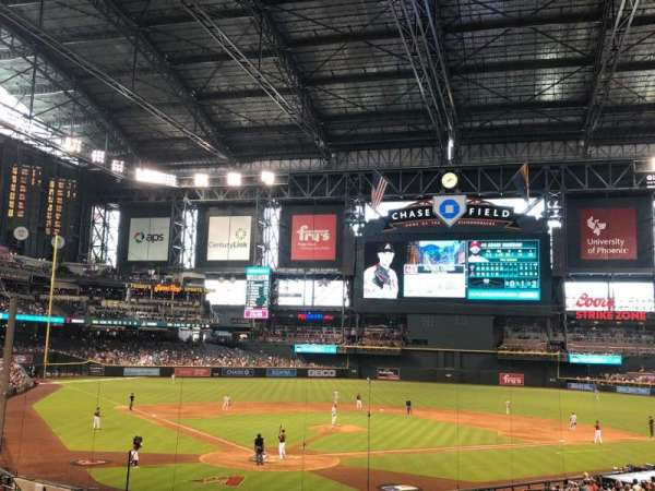 Chase Field, section: 120, row: 36, seat: 15