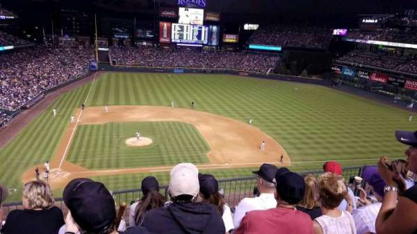 Coors Field, section: L325, row: 4, seat: 16