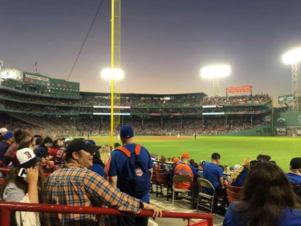 Fenway Park, section: Right Field Box 92, row: GG, seat: 12