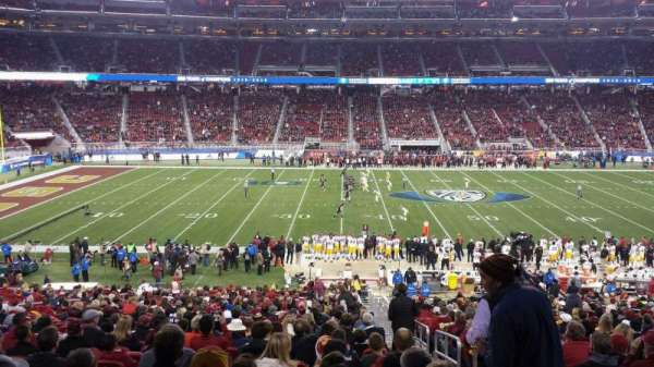 Levi's Stadium, section: C140, row: 35W, seat: 1