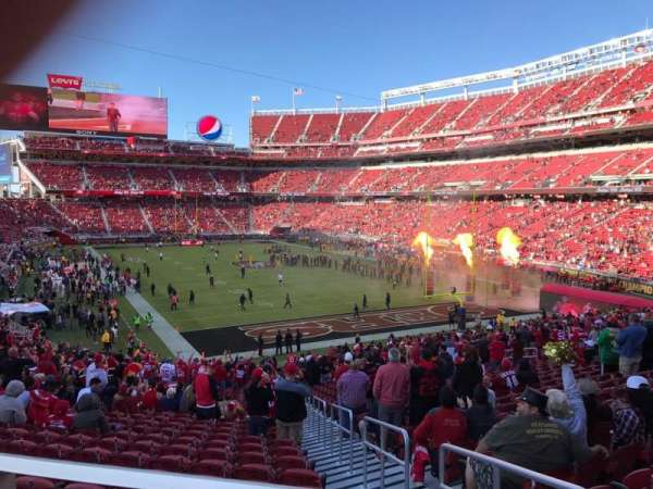 Levi's Stadium, section: 130, row: 35W, seat: 1