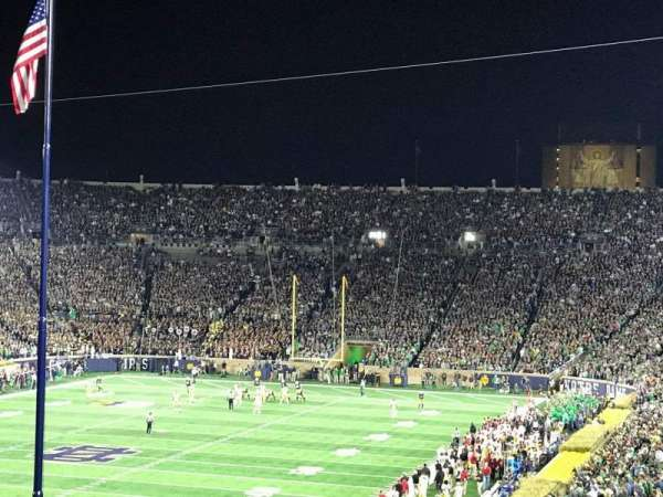Notre Dame Stadium, section: 116, row: AD, seat: 7