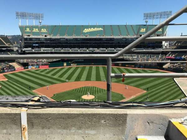 Oakland Alameda Coliseum, section: 317, row: 1, seat: 2