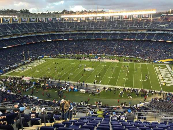 San Diego Stadium, section: V40, row: 18, seat: 5