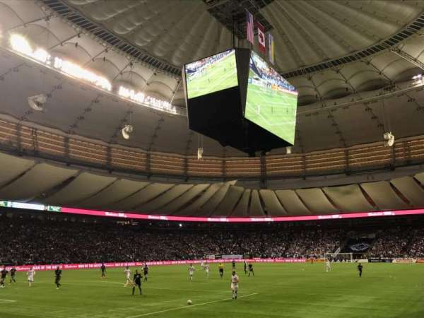 BC Place, section: 222, row: A, seat: 101
