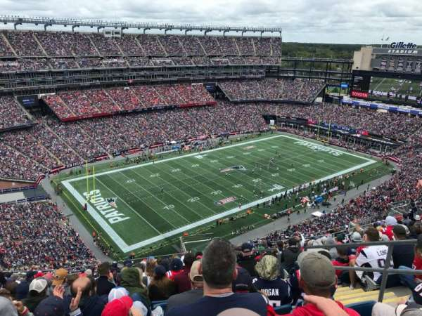 Gillette Stadium, section: 338, row: 21, seat: 5