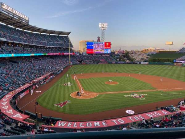 Angel Stadium, section: C330, row: A, seat: 4