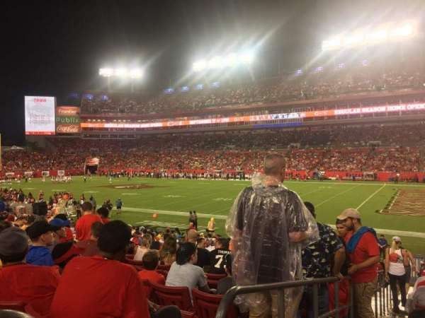 Raymond James Stadium, section: 140, row: X, seat: 1