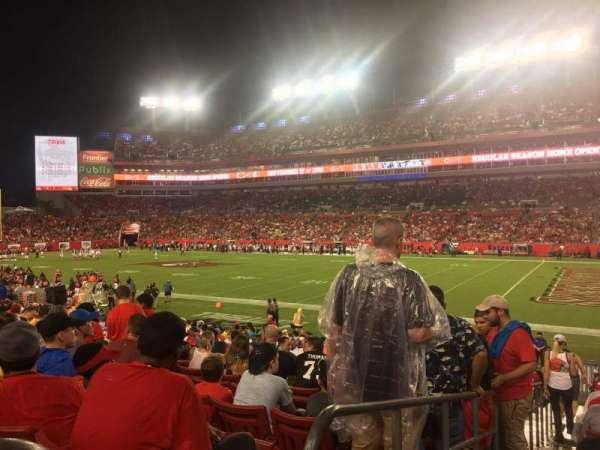 Raymond James Stadium, section: 140, row: X, seat: 1