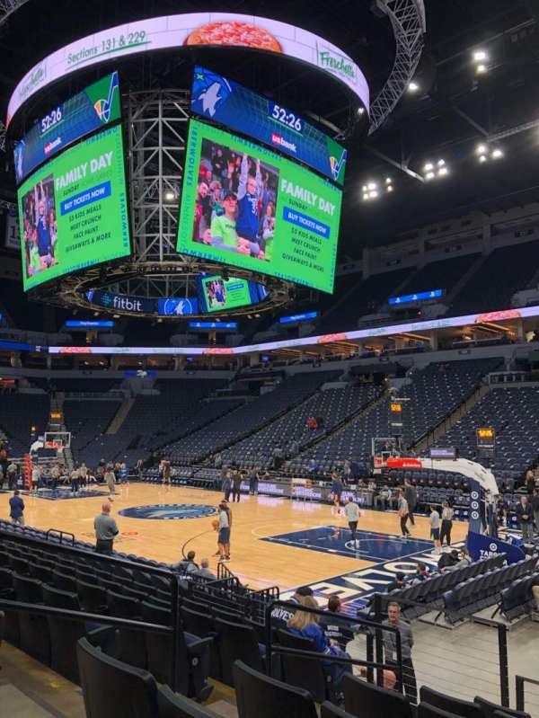 Target Center, section: 106, row: G, seat: 13