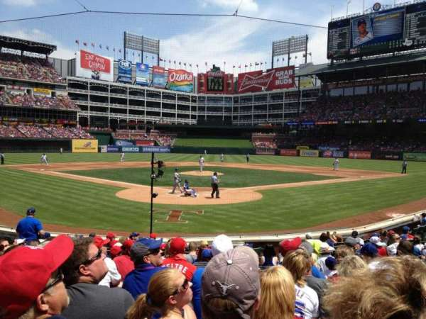 Globe Life Park in Arlington, section: 25, row: 12, seat: 18