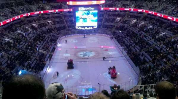 SAP Center, section: 222, row: 18, seat: 15
