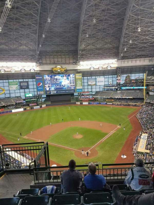 Miller Park, section: 423, row: 12, seat: 15