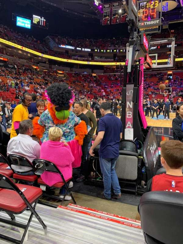 American Airlines Arena, section: 124, row: 4, seat: 20