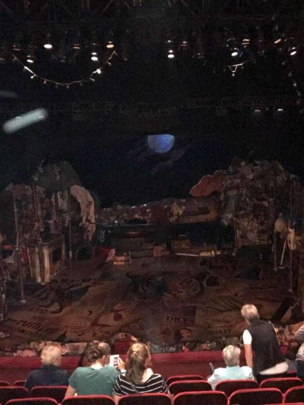 Neil Simon Theatre, section: Front Mezzanine C, row: H, seat: 112