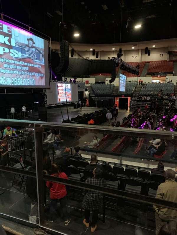 Pechanga Arena, section: L, row: 1, seat: 4