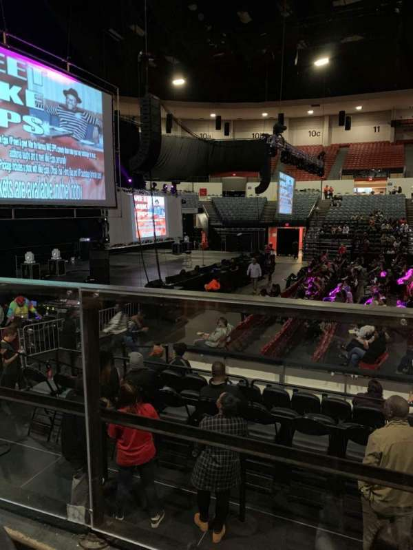 Pechanga Arena, section: L, row: 1, seat: 4