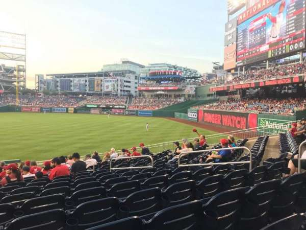 Nationals Park, section: 136, row: EE, seat: 10