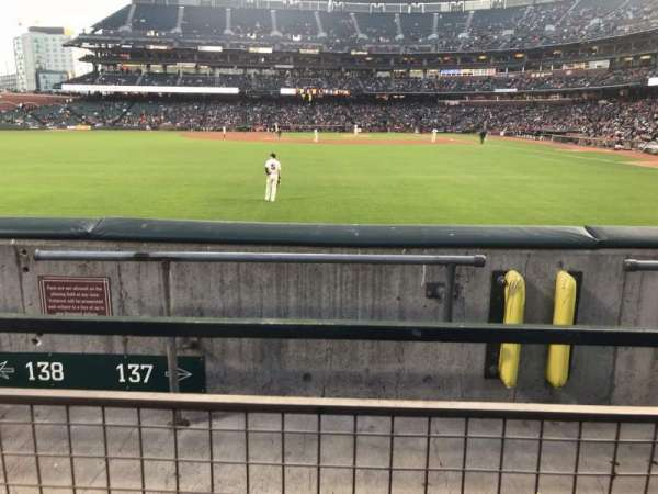 Oracle Park, section: 137, row: 1, seat: 22