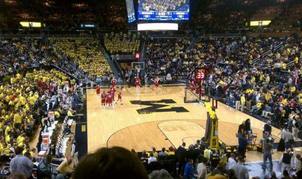 Crisler Center, section: 116, row: 18, seat: 4